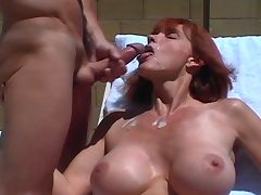 Big Titted Twyla's Outdoor Facial tube porn video