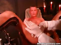 Blonde doctor inserts big toys part4 tube porn video
