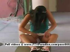 Priscilla tender cute woman public flashing tube porn video