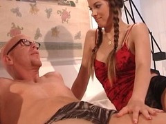 Threesome sex with two horny sluts tube porn video