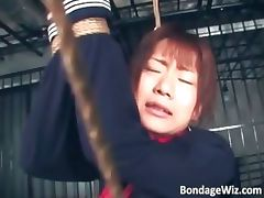 Tied up Asian slut getting punishing part2 tube porn video