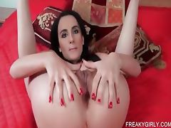 Slutty minx teases her two fuck holes tube porn video