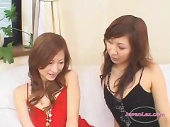 Asian Girl Fingering Asshole For Herself While Other Girl Watching Her On The Couch tube porn video