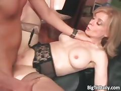Sexy blonde MILF with big tits seduced part5 tube porn video