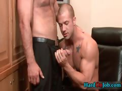 Two hot guys fucking ass and sucking tube porn video