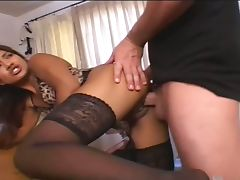 Latin asshole creampied tube porn video