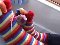 Sexy Claire does footjob tube porn video