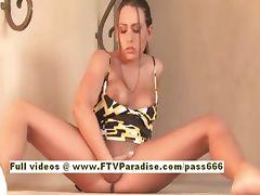 Renna lovely redhead babe flashing tits tube porn video