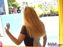 This slut got naked tube porn video