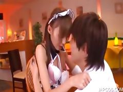 Asian teenage maiden gets cunt licked tube porn video