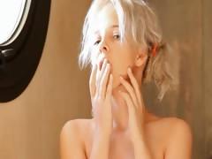 Shaving of graceful 18yo blonde pussy tube porn video
