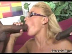 Hot Blonde Drinks Black Cum tube porn video