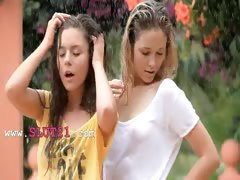 Beautiful babysitters in the rain tube porn video