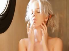 Shaving of lovely 18yo blonde pussy tube porn video