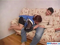 BBW Plump Mom Fucks Sons Friend tube porn video