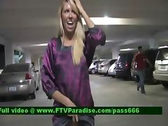Brynn lovely blonde babe walking through a car park tube porn video