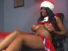 Black miss Santa tube porn video