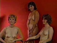 Vintage French videos. Retro French sex of hot gals in nice clothes undressing and using huge dicks