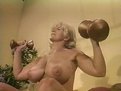 Muscled Chesty Granny Lifts Weights all Naked 1970 tube porn video