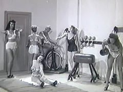 Guy Steals Ladies Gym Clothes and gets Punished 1950 tube porn video