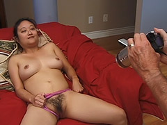 Asian Hairy Pussy Girl Performs on a Hardcore Fucking Video Featuring an Old Man tube porn video