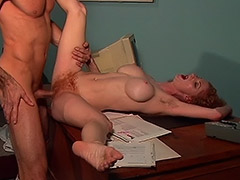 Deepthroat Pussy and Anal Fucking Action in this Hairy Cunt Redhead Woman Hardcore Movie tube porn video