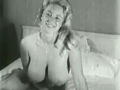 Big Busty Virginia Bell Solo 1950 tube porn video