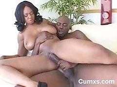 Black Big Titty Milf Riding Black Cock tube porn video