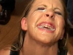 Mouthful videos. After the rough sex those filthy nymphs receive mouthful of fresh cumshots