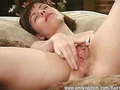 Katja Hairy Goddess in white teddy tube porn video