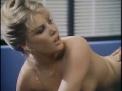 Guy with mustache plows busty blonde in the office tube porn video