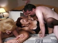 Granny gals' group sex action tube porn video