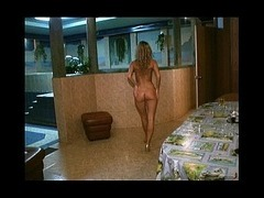 Gorgeous goldilocks watched Gorgeous goldilocks watched when relaxing in the sauna She's walking nak tube porn video