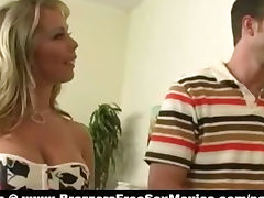 Super sexy busty blonde horny milf paint huge fat cock tube porn video