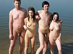 ORGY AT THE BEACH tube porn video