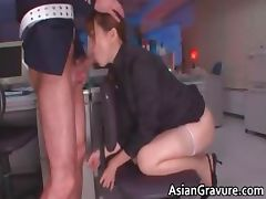 Hot and sexy asian secretary blows rigid part3 tube porn video