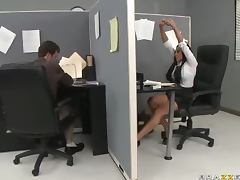 Smoke Break Turns Into Hardcore Sex In The Office With Audrey Bitoni tube porn video