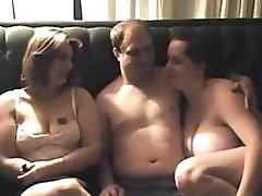 Chubby Amateur Babes Sharing a Cock In Threesome tube porn video