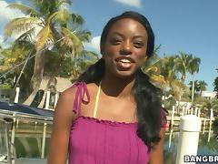 Skinny Ebony Model Gets Banged Hard tube porn video