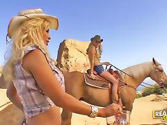 Cowgirl Shyla Stylez lesbian sex outdoors tube porn video