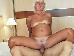 Kate Blonde with hairy cunt is satisfying her muscular macho tube porn video