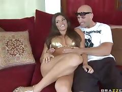 Cute Brunette Madelyn Marie Crashing Pornstar Johnny Sins' tube porn video