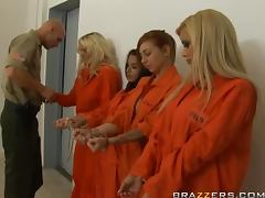 Busty Blonde Inmate Shyla Stylez Does Ass To Mouth and Swallows tube porn video