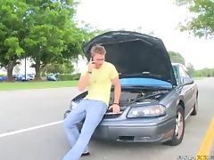 Horny Blonde Mechanic Nikki Sexx Fucking A Movie Star tube porn video