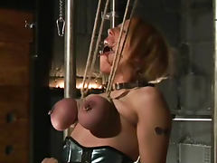 Extreme tit torture with submissive tube porn video