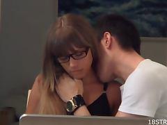 Naughty Babe Bangs Her Study Partner tube porn video