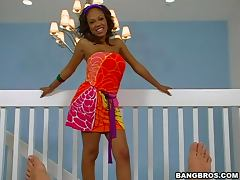 Sexy Big Tit Ebony Babe Strokes A Cock tube porn video