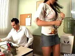 Busty Brunette Eva Karera Wants To Fuck Her Office Mate tube porn video