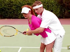 Tennis Practice Sex With The Hot Redhead Audrey Hollander tube porn video