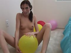 Balloon Toying With The Naughty Brunette Sophie Crus tube porn video